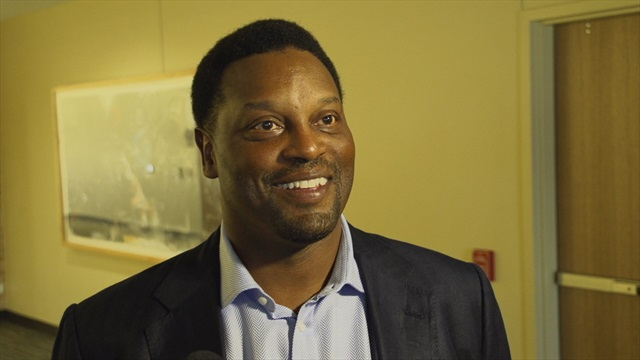 Sumlin meets media prior to Brazos County Coach's Night