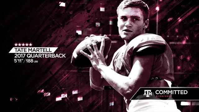 Five-star 2017 quarterback Tate Martell chooses Texas A&M