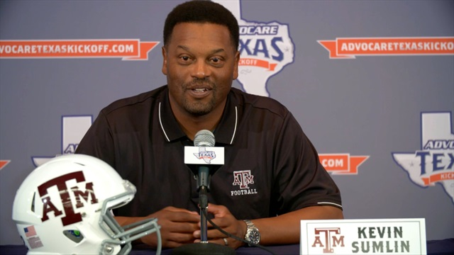 Sumlin, Graham meet with media prior to Advocare Texas Kickoff